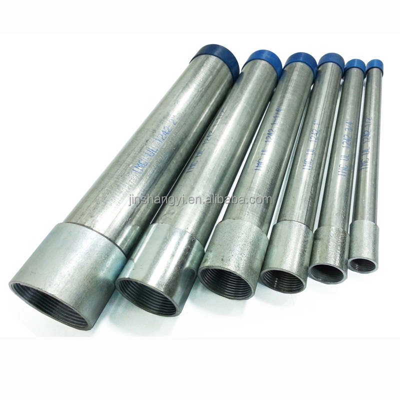 Alibaba hot sale good price UL standard threaded IMC conduit for ansi C80.6 clean weld line galvanized steel pipe