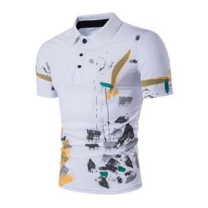 2019 wholesale polo tee shirts gender man printing t shirt cotton summer golf clothes new fashion sport wear OEM & ODM factory