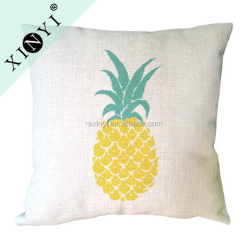 Pineapple Printed Sofa Chair Decorative Pillow Cover Custom Printing New Decorative Pillow Covers Wholesale
