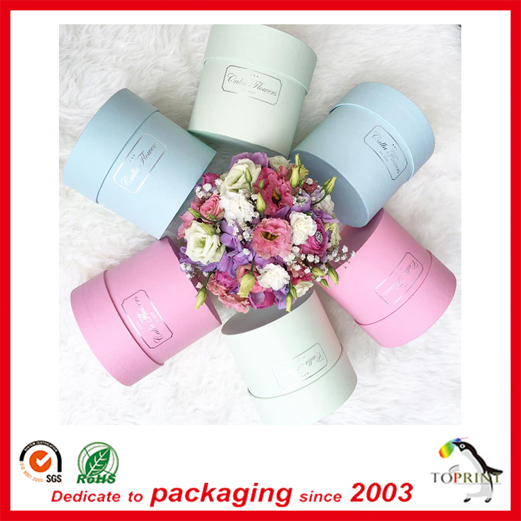 Rose package fresh preserved flower round box for wedding gift flowers