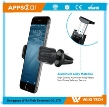Apps2car Custom Logo K2-AV3 360 Degree Swivel Plastic Air Vent Phone Holder Smart Phone Car Mount Stand for Cellphone
