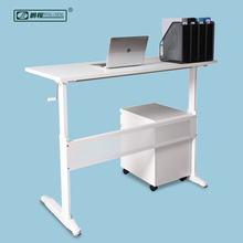 White Modern Office Interior Design Sit Stand Executive Desk