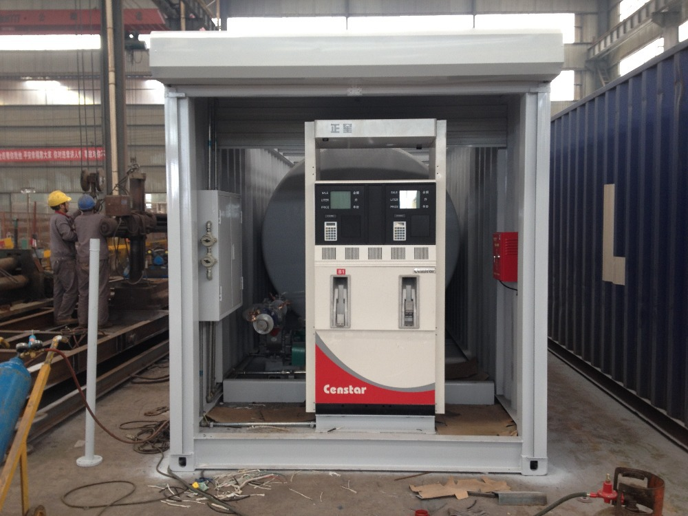 Portable Gas Containeres : And ft mobile petrol gas station portable