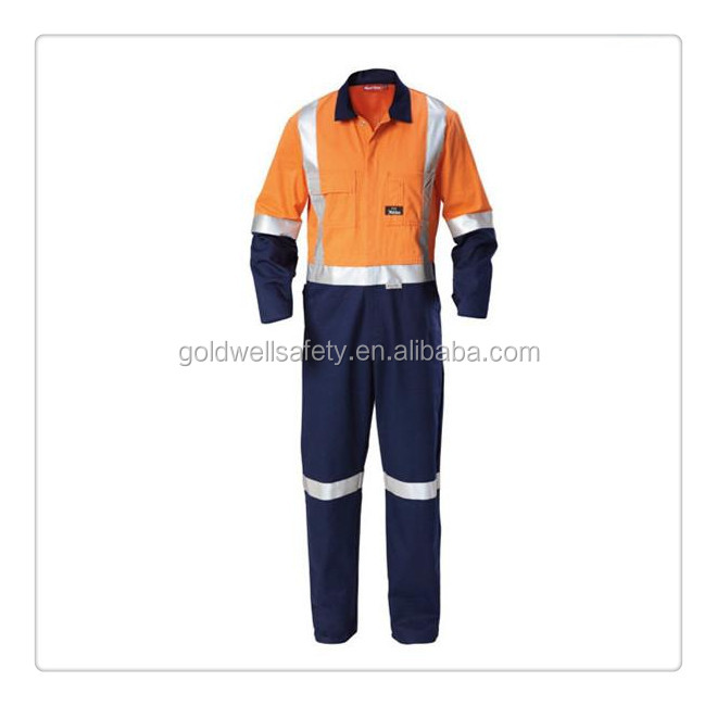 Men Coverall iso20471 Flameproof Safety Wear Industrial Use