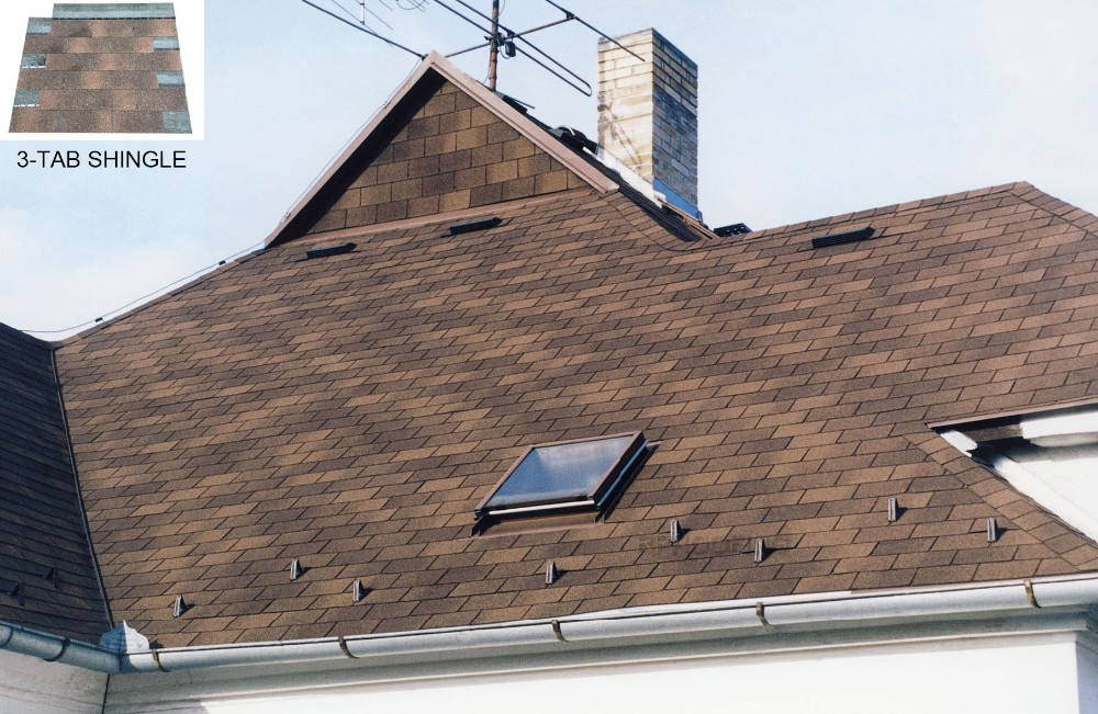 Cheap 3 tab bitumen shingles asphalt shingle manufacturers for Cheapest way to roof a house