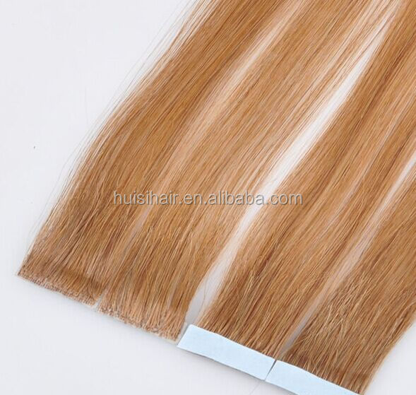 Discount sale in Qingdao double drawn waterproof hand tied tape hair extensions