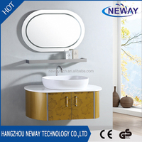 High quality stainless steel bathroom vanity and sink combo with mirror