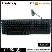 Ergonomics Style and Wired Waterproof Gaming Keyboard