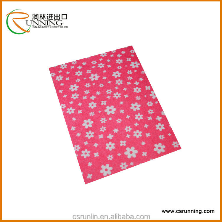 Creative craft printed felt sheet Polyester Felt as a raw materials
