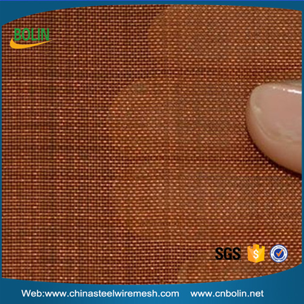 Ultra fine copper grid/red copper cloth/copper infused fabric mesh