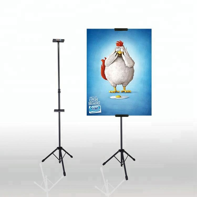 Folding retractable tripod advertising poster banner stand Aluminium Tripod Easel display