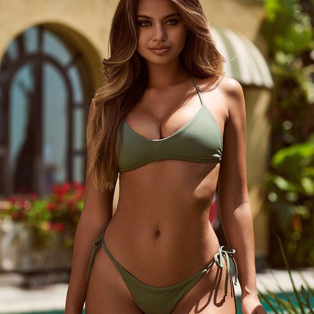 Sexy Woman In Red Bikini Stock Photo