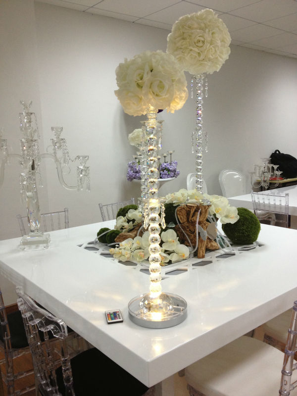 LED Centrepiece Base Light Wedding Party LED Under Vase Light Floral Decoration