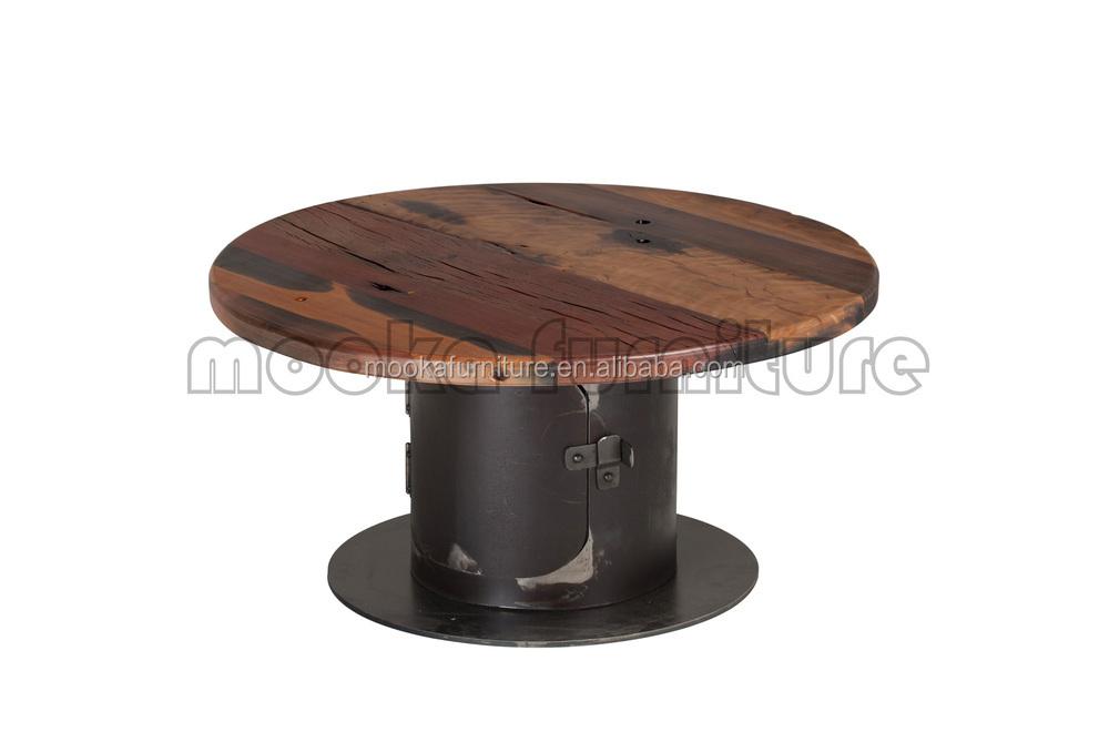 Stehtisch Alt Boot Holz Oberen Leiste Tabelle Metallrahmen