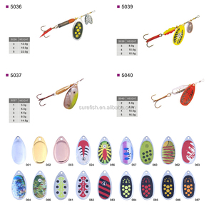 Top Quality Artificial Bait Metal Spinner Fishing Lures