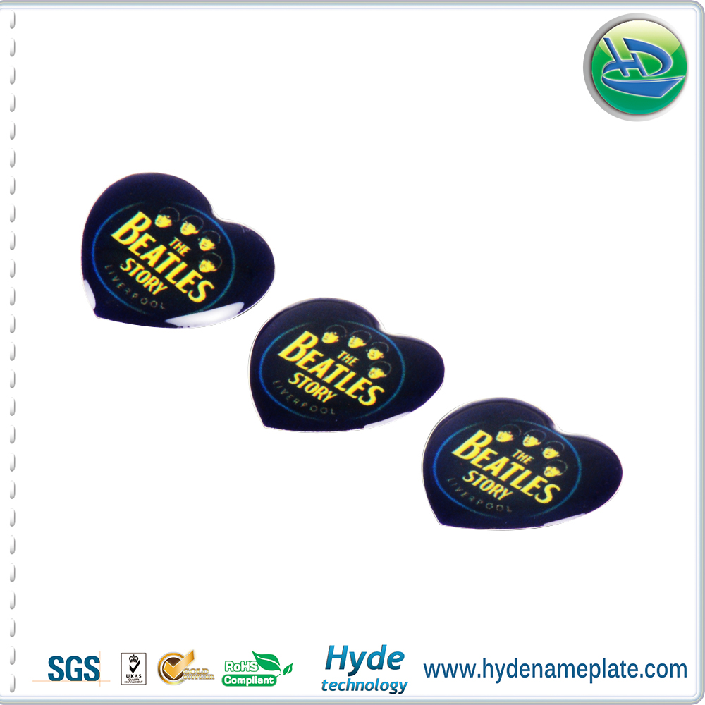 Popular any shape plastic transparent 3D epoxy sticker , domed epoxy stickers for bottle caps