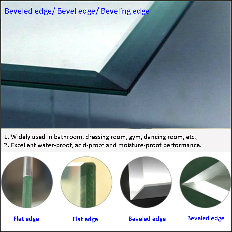 3mm To 6mm Thickness Bevelled Edge Mirror Door For Closet