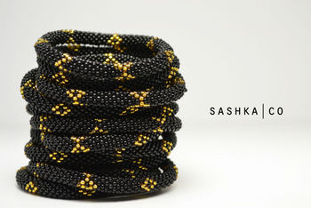 Roll On Gl Beaded Nepal Bracelets