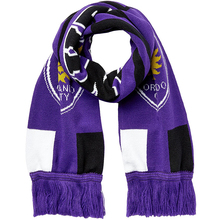 Multicolor Traditional Wave Jacquard Football Fans Fancy Knitting Round Neck Scarf
