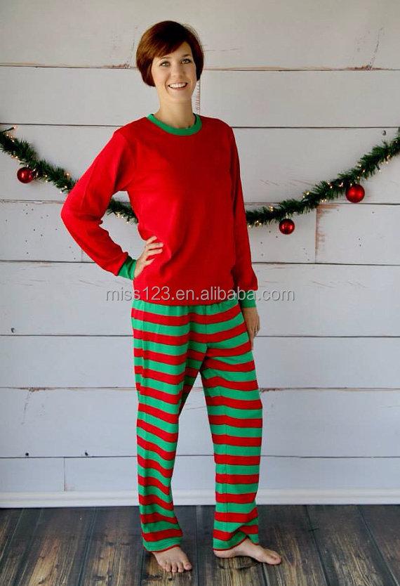 org u00e1nica del beb u00e9 del algod u00f3n de rayas pijamas de navidad para la familia