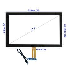 Cjtouch lcd display 야외 방수 usb 10 점 hmi capacitive 터치 스크린 panels overlay 15 inch 막 방식 touch screen