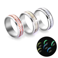 Wholesale Bulk Jewelry 88 Rising Up Luminous Titanium Steel 3 Colors Women Men Ring