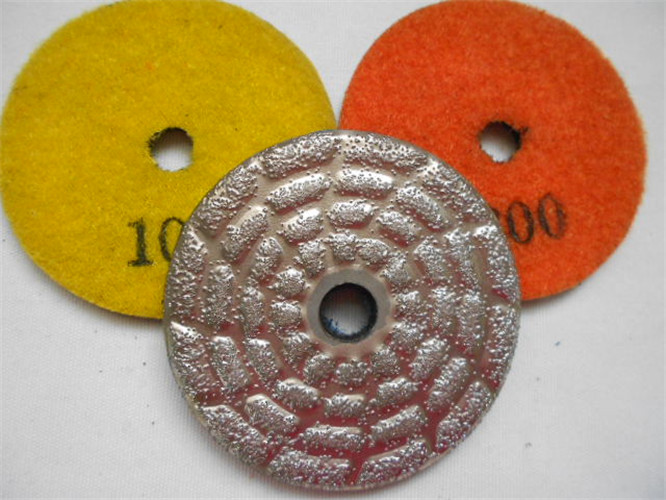 Best price of vacuum brazed diamond fllor polishing pad
