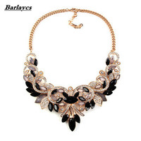 2605 Barlaycs 2018 wholesale Colorful Crystal Maxi Statement choker necklace for women and girls