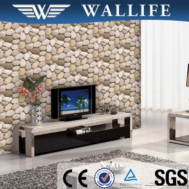 YS10702 Modern Style Pvc Living Room 3d Stone Wallpaper