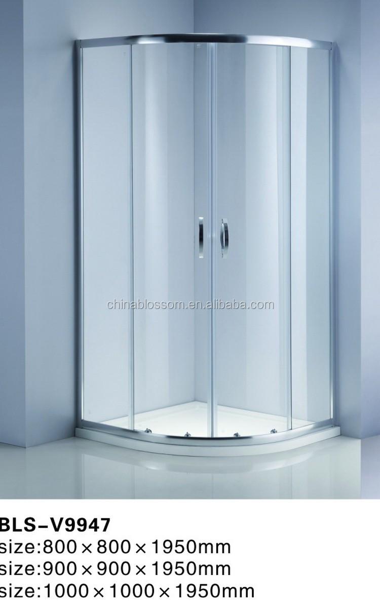 China Blossom Bathroom Quadrant Circular Glass Free Standing Shower ...