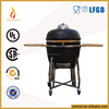 Engrave logo garden portable bbq kamado charcoal grill with whit stitching