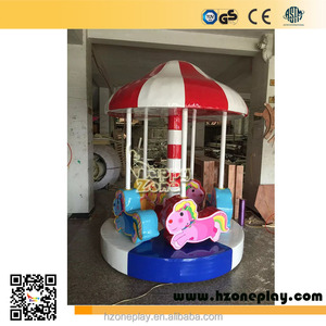 Merry Go Round Carousel Horse Themed Soft Rides Independent Play Equipment for Children Indoor Soft Playgrounds,