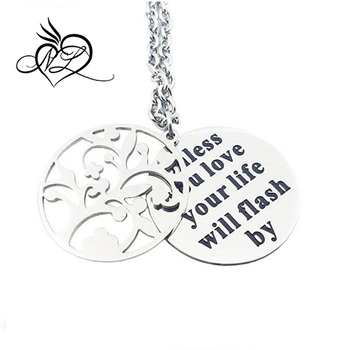 Family Tree Of Life With Quote Necklace Hidden Messages Pendant Adorable Tree Of Life Quote
