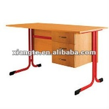 L-feet Height Adjustable Table,single pedestal desk with drawer cabinet