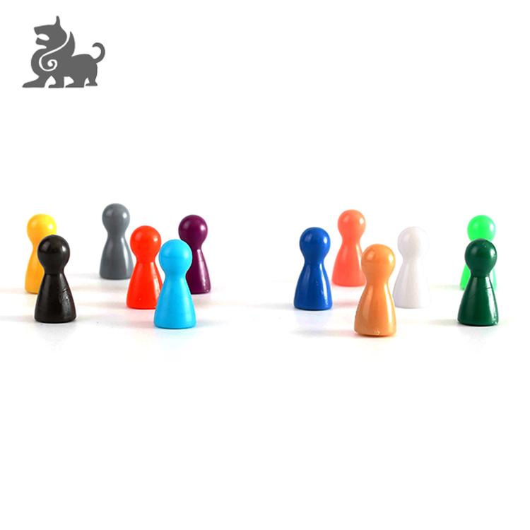 Su misura di plastica pegni, set di gioco da tavolo per ludo gioco