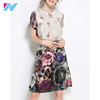 2017 New OEM Service High Quality Vintage Floral Women Casual Dress