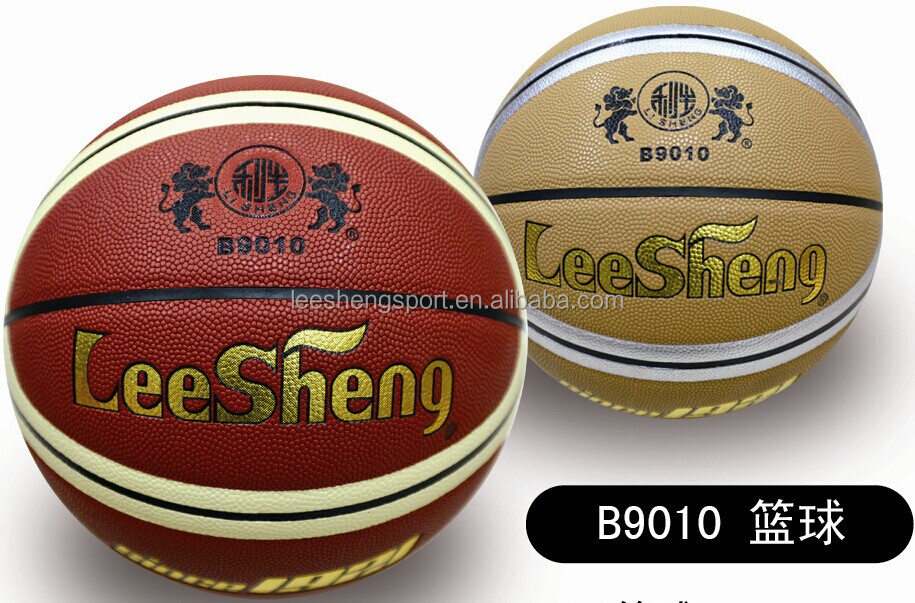 12 panels moisture absorbing PU leather basketball