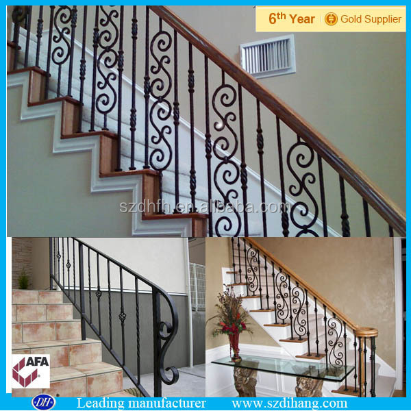 Indoor Wrought Iron Railing/Cast Iron Railing Design/Cast Iron Stair Railing