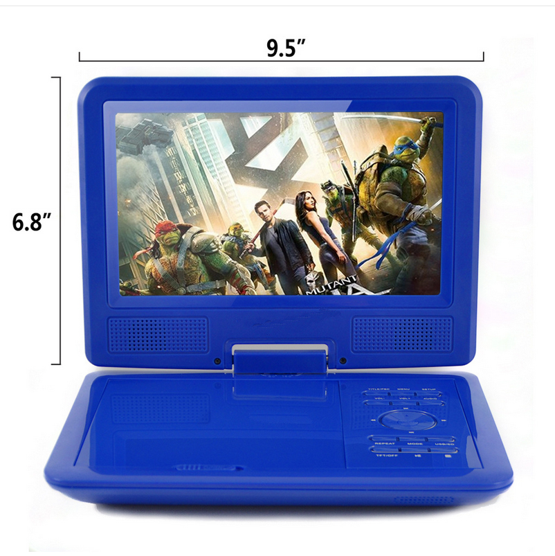 2018 hot selling promotions 9.0 inch portable dvd player with tv/fm/usb/sd/game