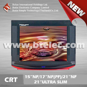 Ultra slim small size cheap 21 inch crt tv