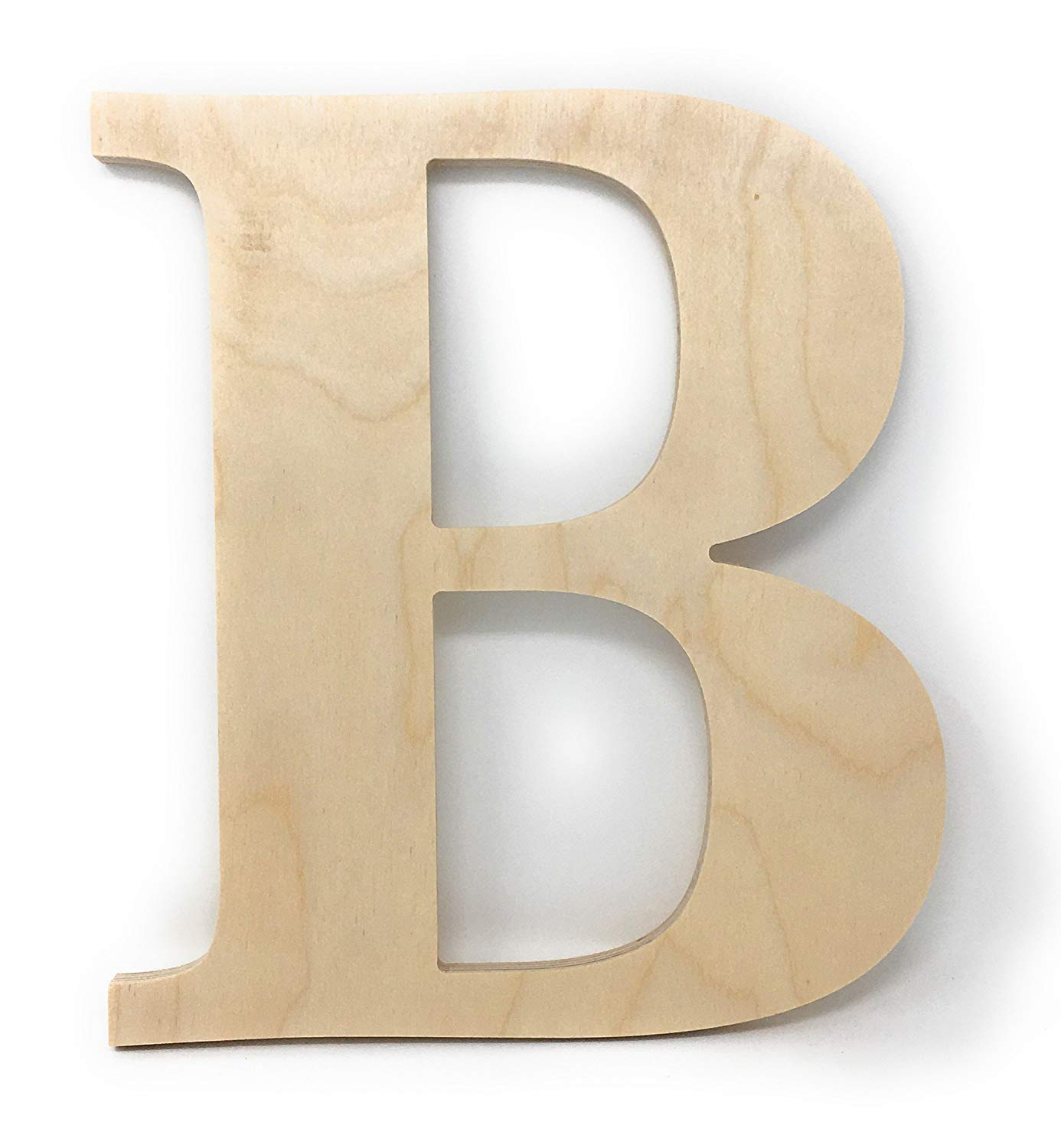"""Gocutouts 12"""" Wooden B Unfinished Wooden Letters Paint Ready Wall Decor Times B (12"""", B)"""