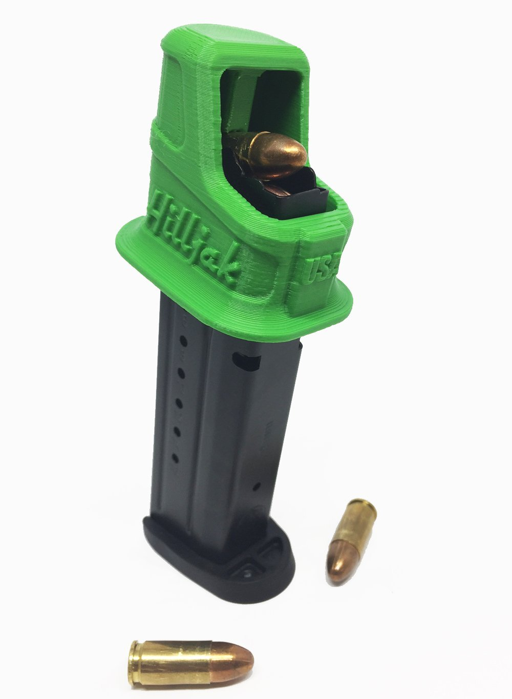 Springfield Armory XD, XD(M), XD Mod 2, 9MM Double-Stack Magazine Loader by Hilljak, Hunter Green