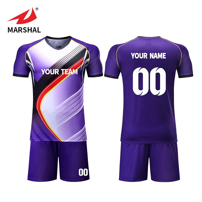 d4cfc6051 Get Quotations · Marshal Jersey Custom Team Soccer Jerseys Purple Soccer  Uniforms Design Your Own Soccer Jersey