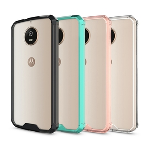 Hot Hybrid Shockproof Cover Air Cushion Frame Case With Acrylic Crystal Clear Back Shell Mask For Motorola Moto G5S / G5 S Plus