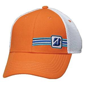 NEW 2015 Bridgestone Surfer Series Mesh Orange Adjustable Golf Hat/Cap