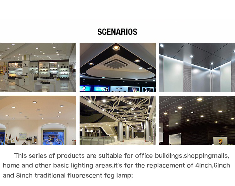 commercial illumination adjustable led downlights anti-dazzling white milky for wholesale-10