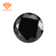 1MM 3MM Loose Round Shape Black Cubic Zirconia Gemstone