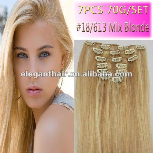 brazilian human hair most popular 2016 best selling clip in hair extension