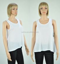 Women Custom loose sleeveless plain summer vest cool jersey tank top