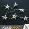 led metal star string lights for christmas festival decoration( heart string, ball string,star string)